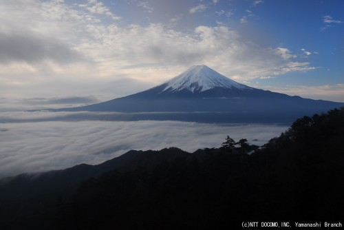 富士山ライブカメラ2009年11月23日