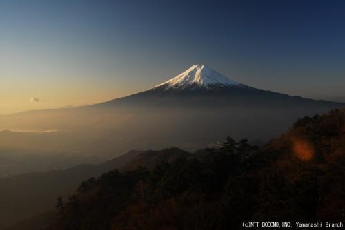 富士山2009年11月27日(午前7時)