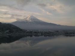 河口湖逆さ富士カメラ2010年2月14日7:00