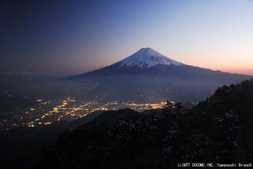 富士山2010年2月20日(18:10)