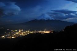 吊るし雲(三ツ峠2010年3月31日18:40)