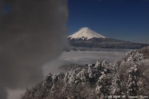 富士山ライブカメラにツララが!(2010年4月17日9:00)