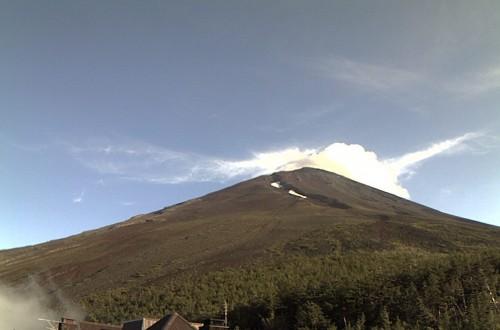 富士山五合目カメラ(2010年7月30日17:00)