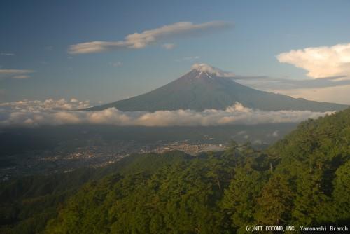 富士山・三ツ峠2010年7月16日(5:30)