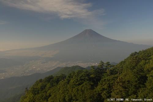 富士山・三ツ峠(2010年8月28日7:30)