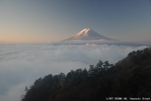 2010年11月18日の富士山(三ツ峠 6:40)