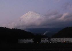 富士山・富士市茶畑(2010年11月18日17:00)