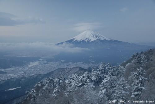 ƒ富士山・三ツ峠(2011年2月14日6:40)