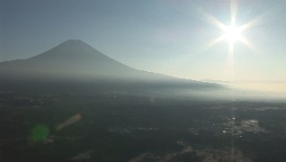seen mt.fuji from hill of the foot