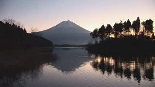 the mt.fuji and the lake tanuki
